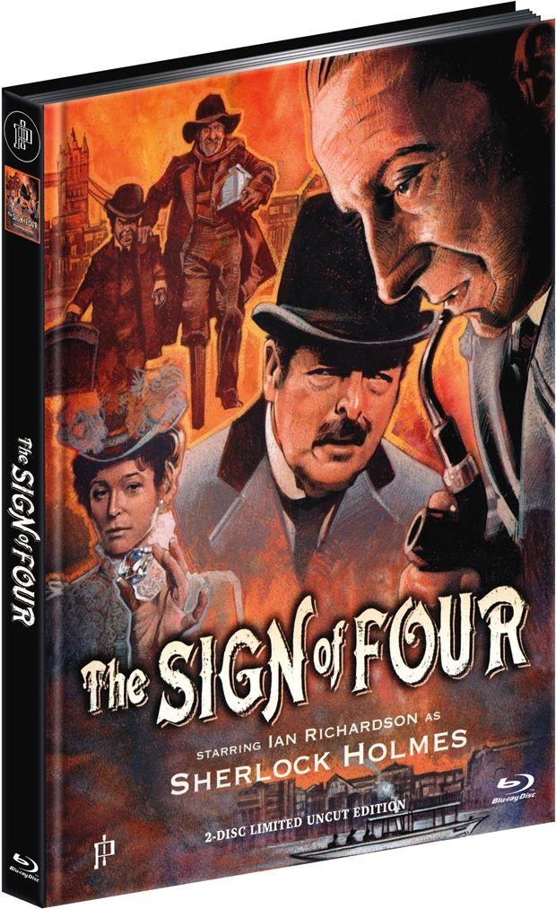 Sherlock Holmes - Im Zeichen der Vier (Lim. Uncut Mediabook - Cover A) (Neuauflage) (DVD + BLURAY)