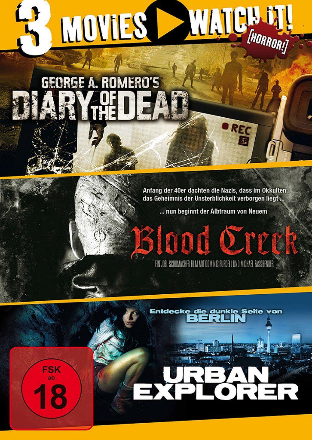 Diary of the Dead / Blood Creek / Urban Explorer (3 Discs)