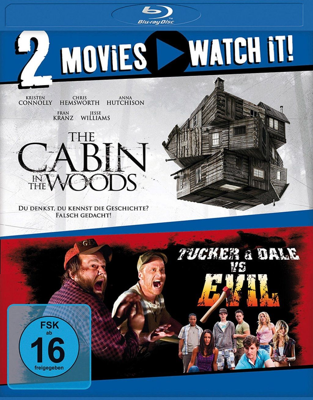 Cabin in the Woods, The / Tucker and Dale vs. Evil (Double Feature) (2 Discs) (BLURAY)