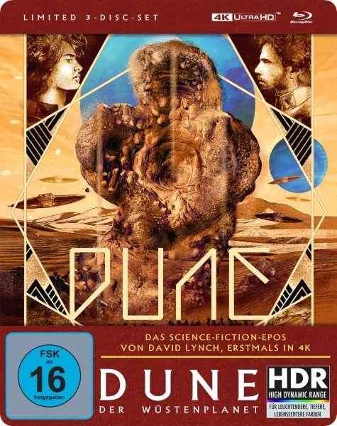 Dune - Der Wüstenplanet (Lim. Steelbook) (UHD BLURAY + 2 BLURAY)