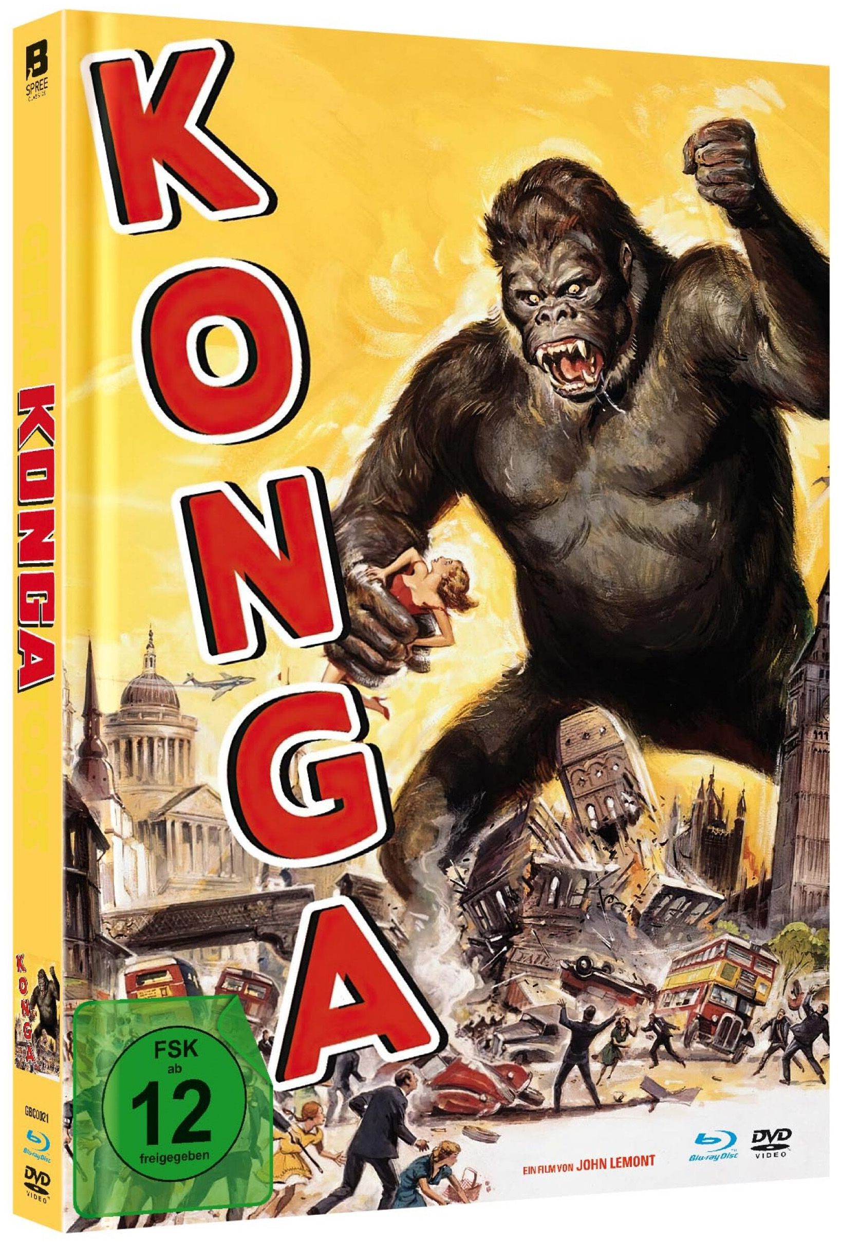 Konga - Erbe von King Kong (Lim. Uncut Mediabook) (DVD + BLURAY)