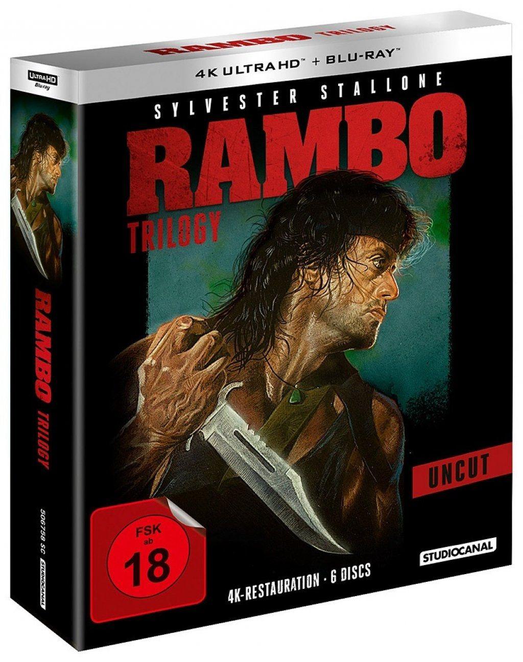 Rambo Trilogy (6 Discs) (UHD BLURAY + BLURAY)