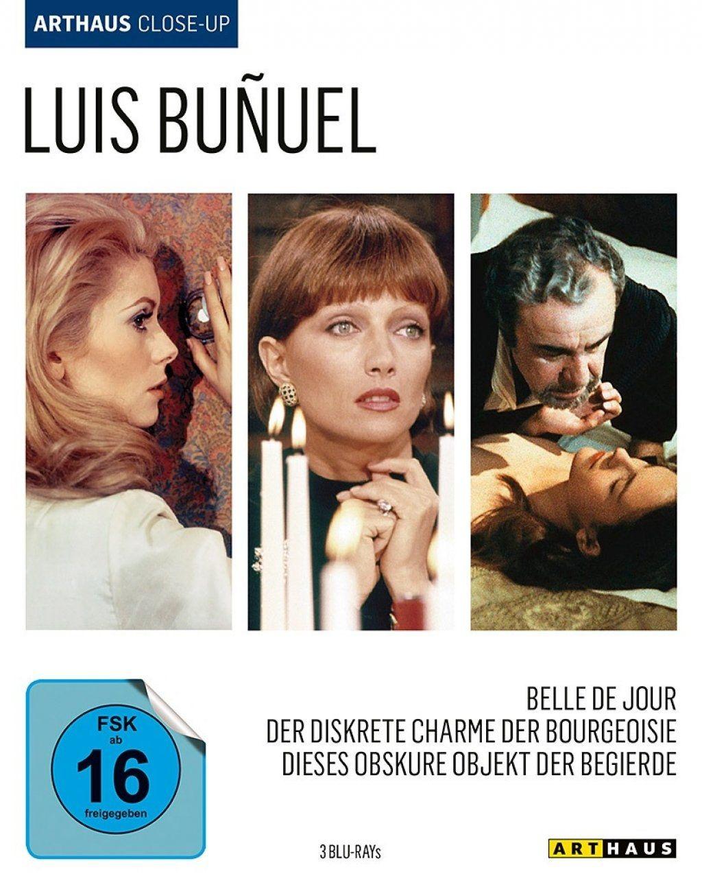 Belle de Jour / Der Diskrete Charme der Bourgeoisie / Dieses obskure Objekt der Begierde (Luis Buñuel - Arthaus Close-Up) (3 Discs) (BLURAY)
