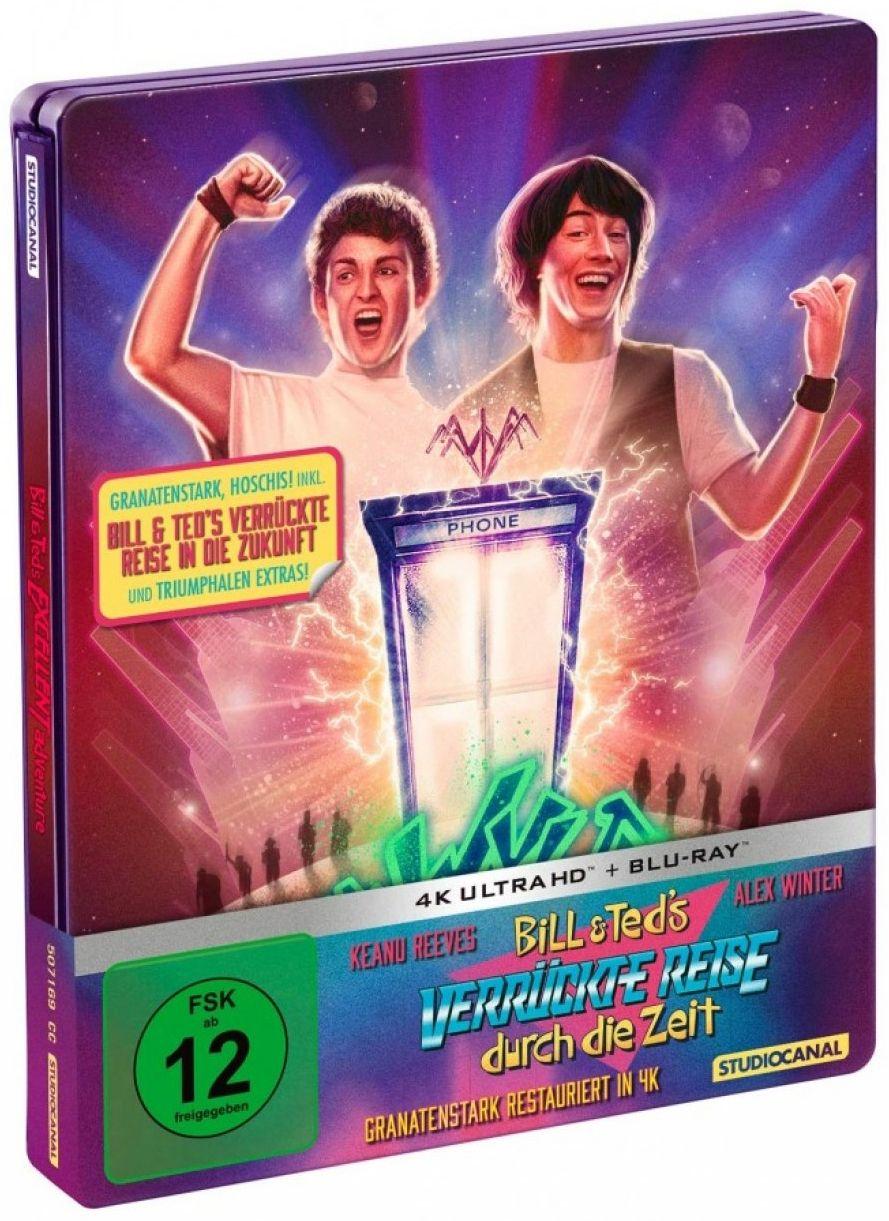 Bill & Ted's verrückte Reise durch die Zeit / Bill & Ted's verrückte Reise in die Zukunft (Lim. Double Feature Steelbook) (3 Discs) (UHD BLURAY + BLURAY)
