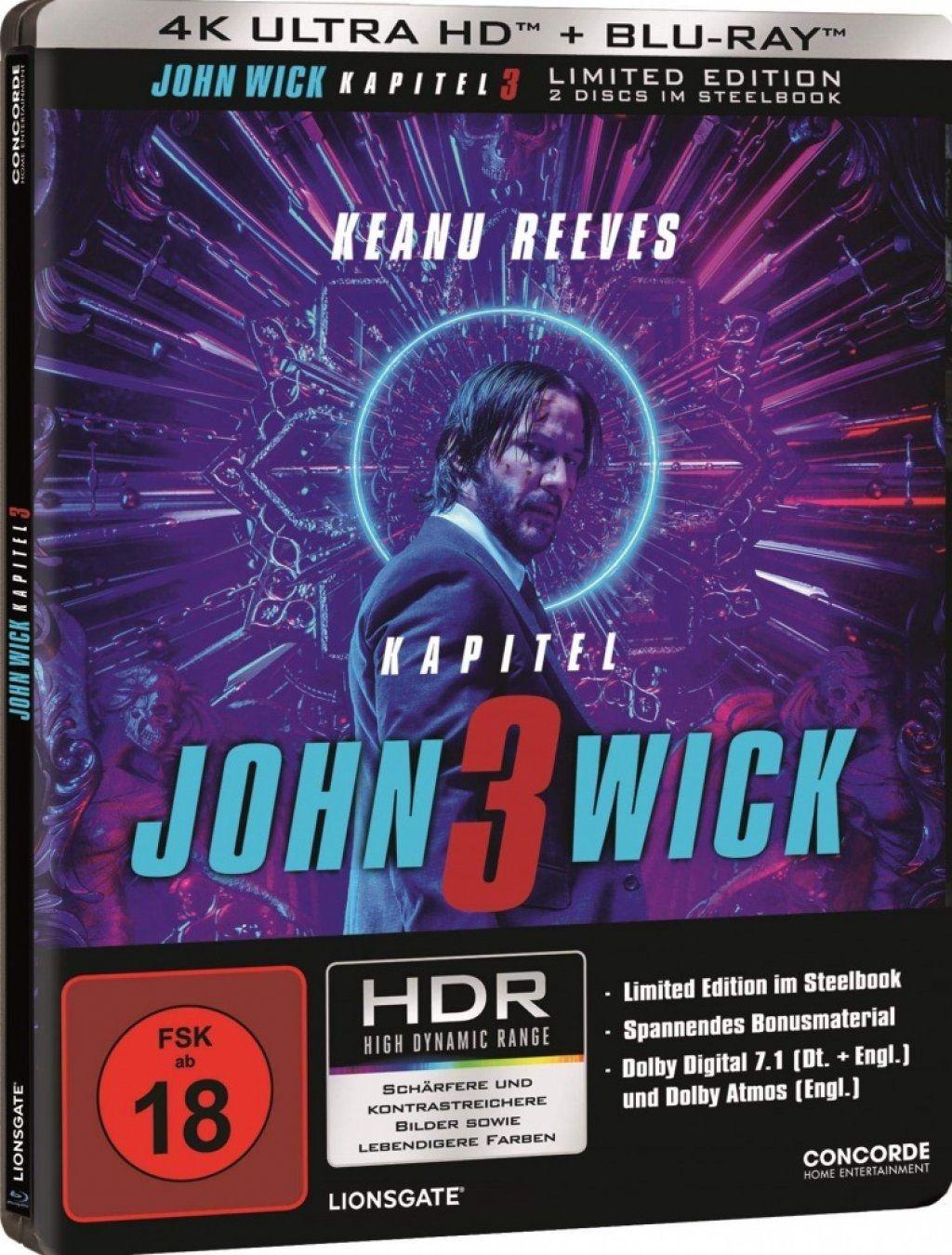 John Wick: Kapitel 3 (Lim. Steelbook) (2 Discs) (UHD BLURAY + BLURAY)
