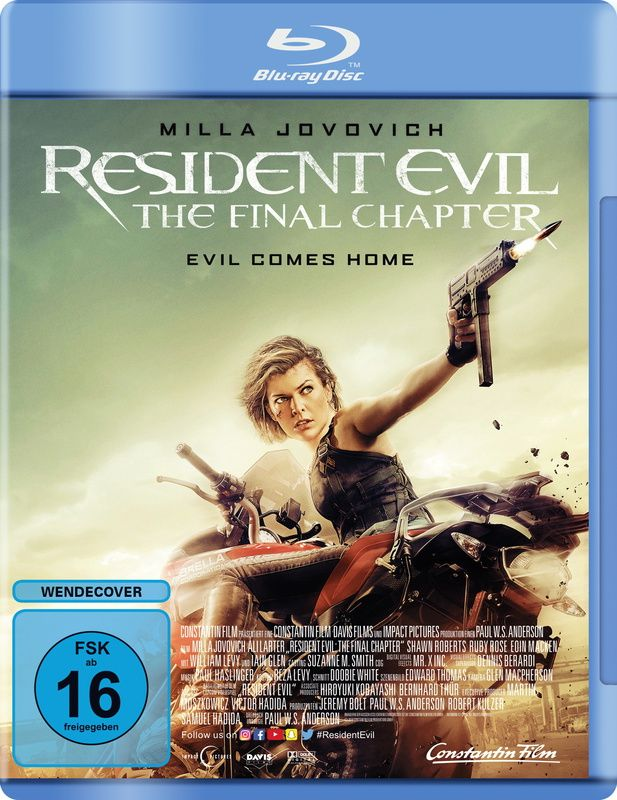 Resident Evil: The Final Chapter (BLURAY)