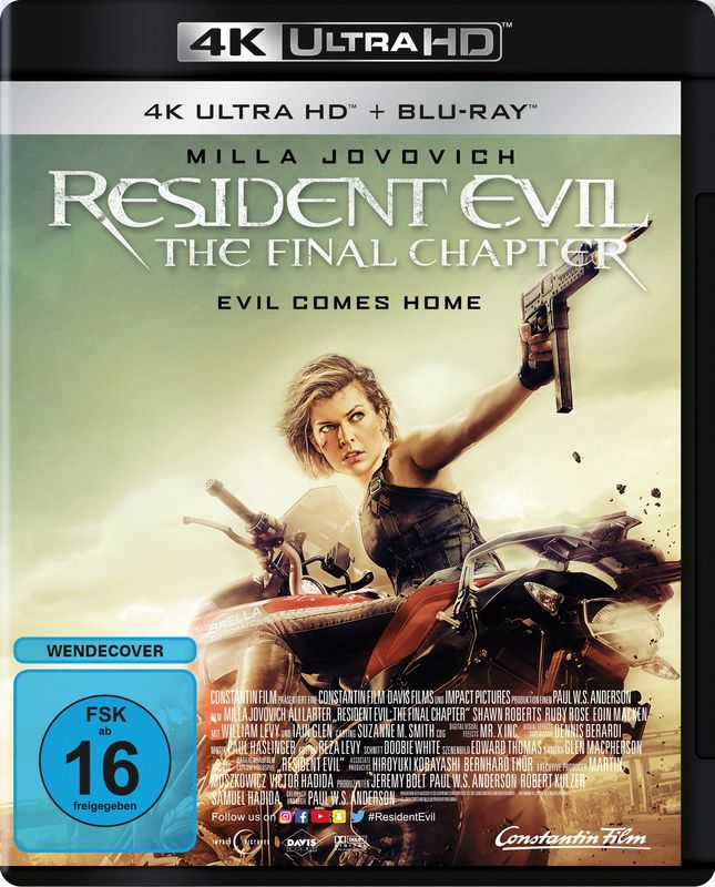 Resident Evil: The Final Chapter (2 Discs) (UHD BLURAY + BLURAY)