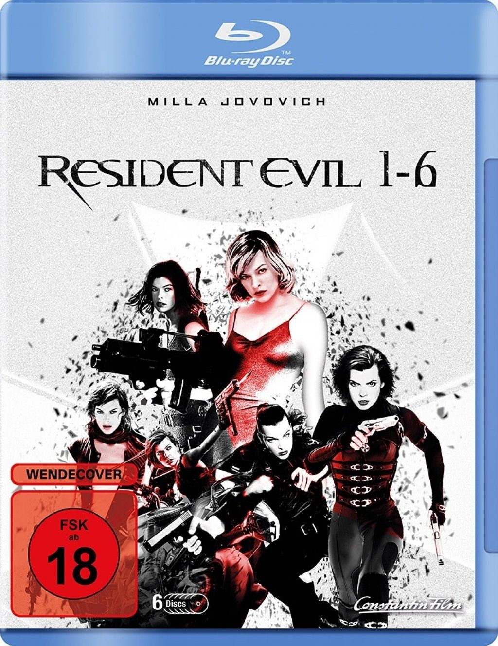 Resident Evil 1-6 (6 Discs) (BLURAY)