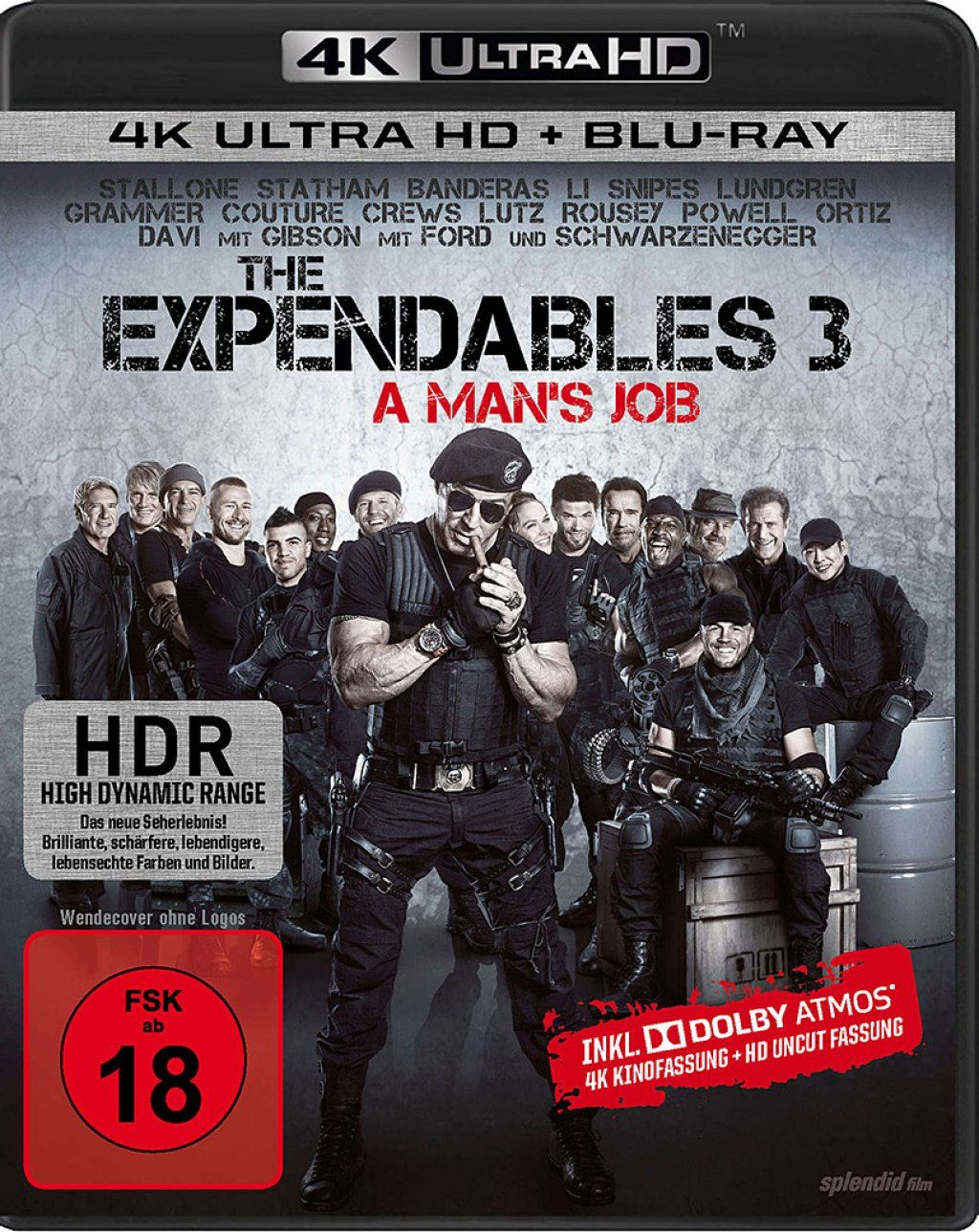 Expendables 3, The - A Mans Job (2 Discs) (UHD BLURAY + BLURAY)
