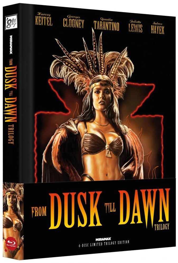 From Dusk Till Dawn Trilogy (Lim. Uncut Wattiertes Mediabook - Cover B) (4 Discs) (BLURAY)