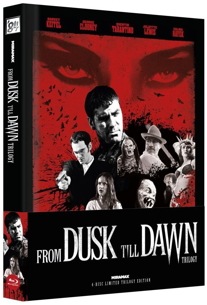 From Dusk Till Dawn Trilogy (Lim. Uncut Wattiertes Mediabook - Cover C) (4 Discs) (BLURAY)