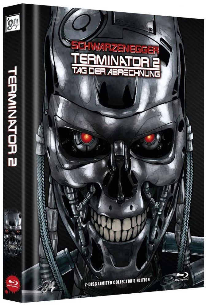 ** B-WARE ** Terminator 2 - Tag der Abrechnung (Lim. Uncut Mediabook - Cover C) (2 Discs) (BLURAY) ** B-WARE **
