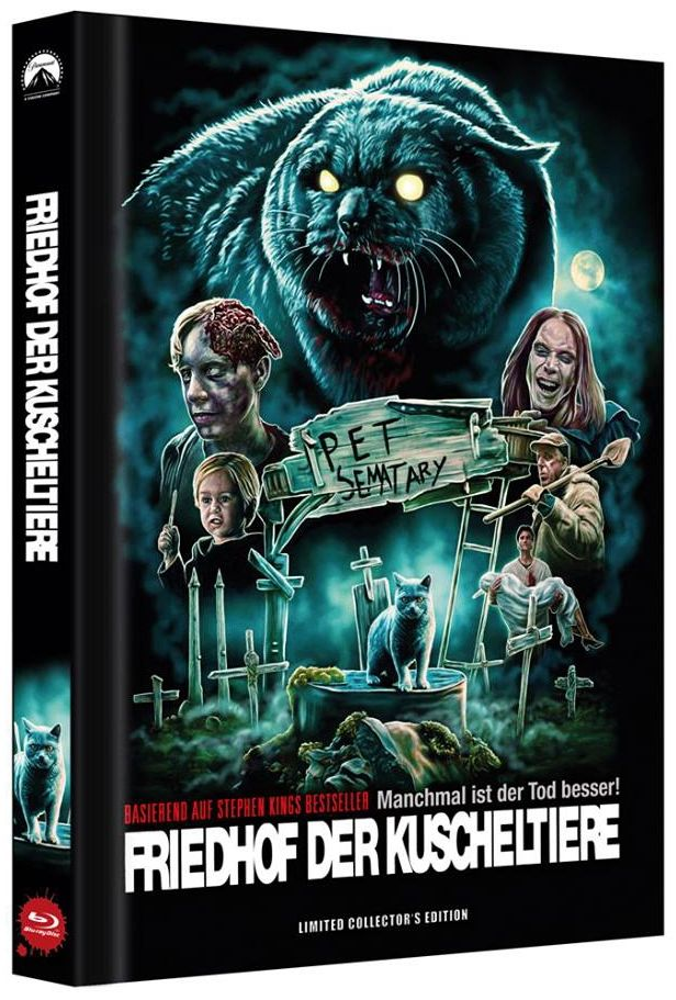 Friedhof der Kuscheltiere - Manchmal ist der Tod besser! (Lim. Uncut Mediabook - Cover D) (BLURAY)