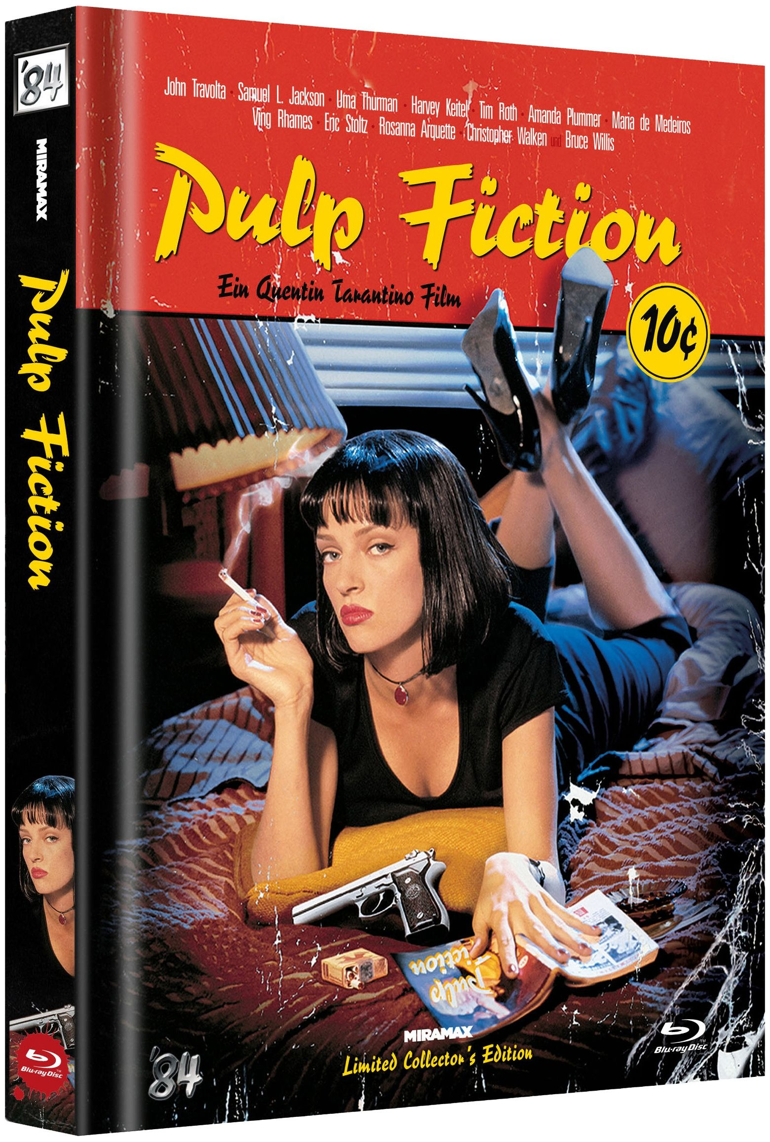Pulp Fiction (Lim. Uncut Mediabook - Cover C) (BLURAY)