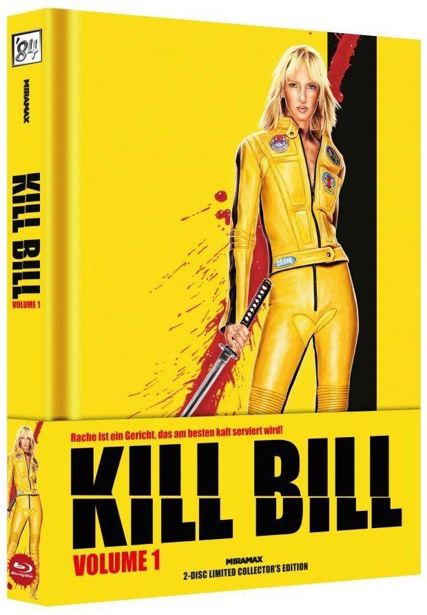 Kill Bill Vol. 1 (Lim. Uncut Wattiertes Mediabook - Cover B) (DVD + BLURAY)