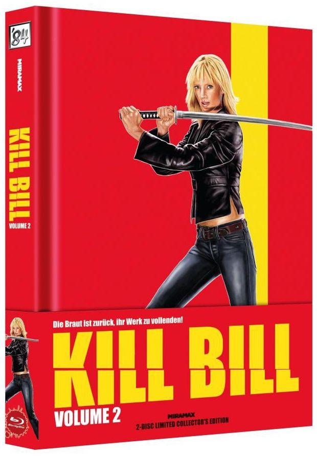 Kill Bill Vol. 2 (Lim. Uncut Wattiertes Mediabook - Cover B) (DVD + BLURAY)