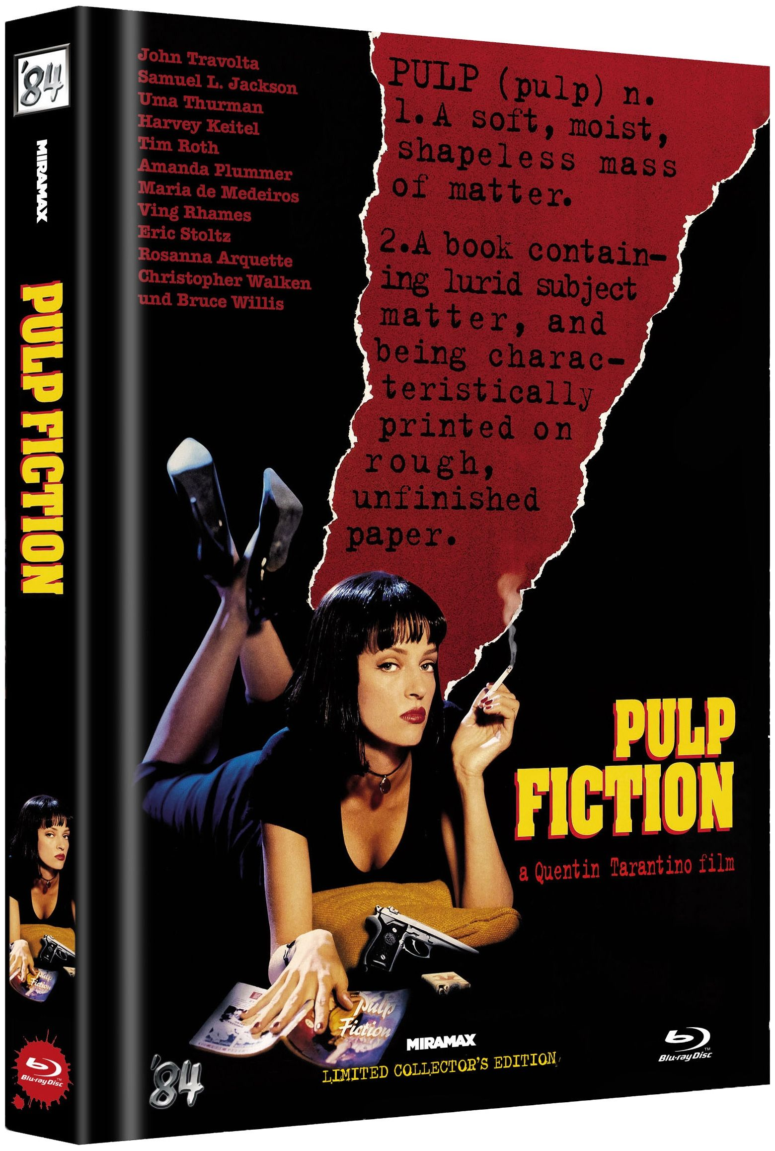 Pulp Fiction (Lim. Uncut Mediabook - Cover D) (BLURAY)