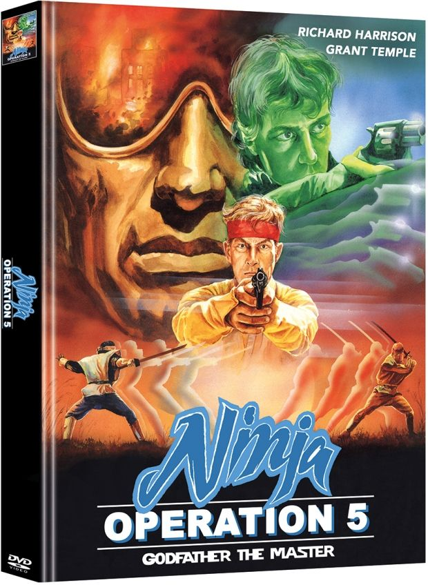 ** B-WARE ** Ninja Operation 5 - Godfather the Master (OmU) (Lim. Uncut Mediabook - Cover A) (2 Discs) ** B-WARE **
