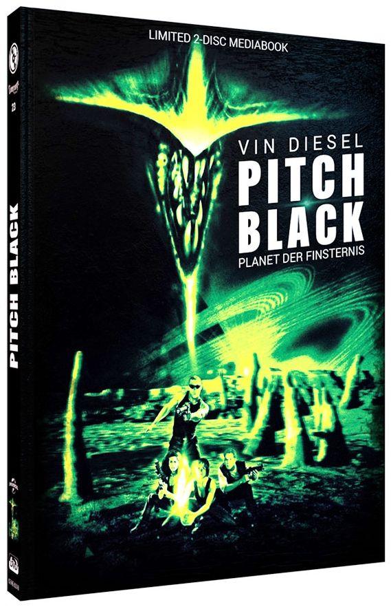 Pitch Black - Planet der Finsternis (Lim. Uncut Mediabook - Cover B) (DVD + BLURAY)