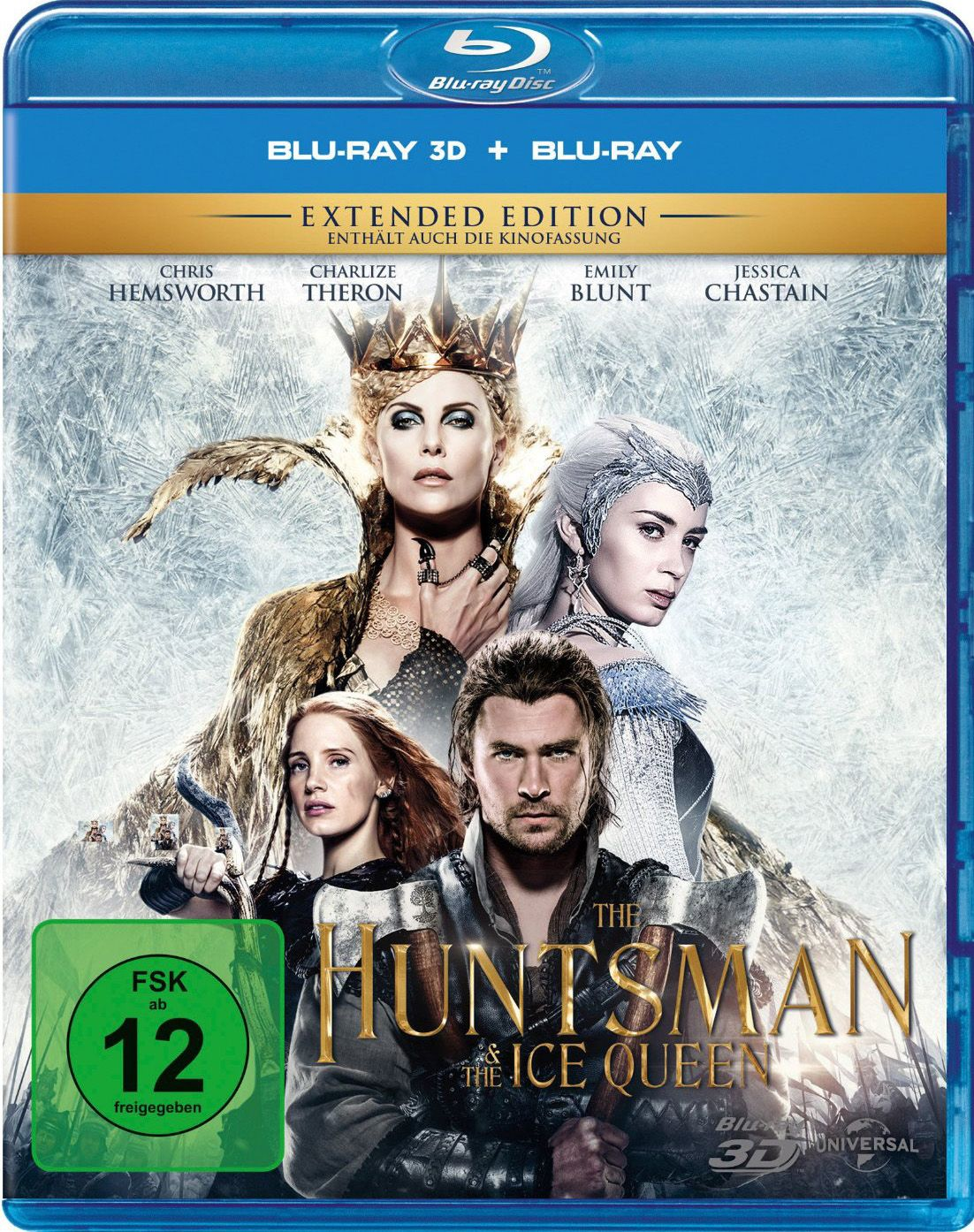 Huntsman & the Ice Queen 3D, The (Kinofassung & Extended Version) (2 Discs) (BLURAY 3D)