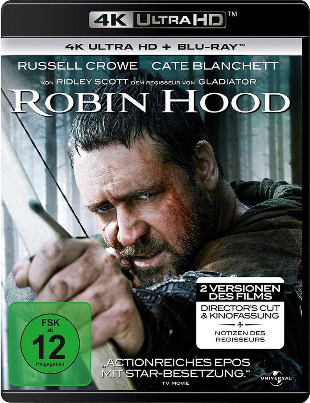 Robin Hood (2010) (Director's Cut) (2 Discs) (UHD BLURAY + BLURAY)