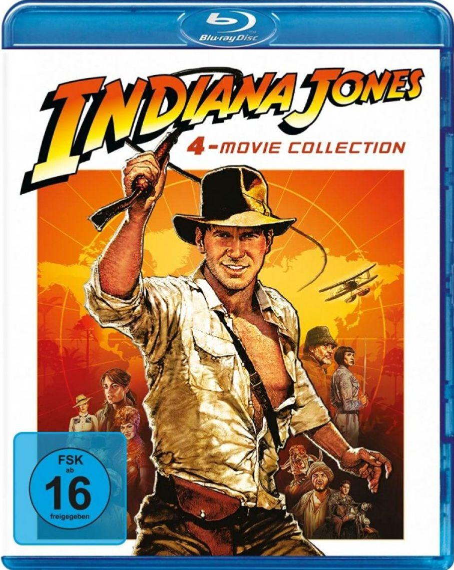 Indiana Jones 1 - 4 Movie Collection (4 Discs) (BLURAY)
