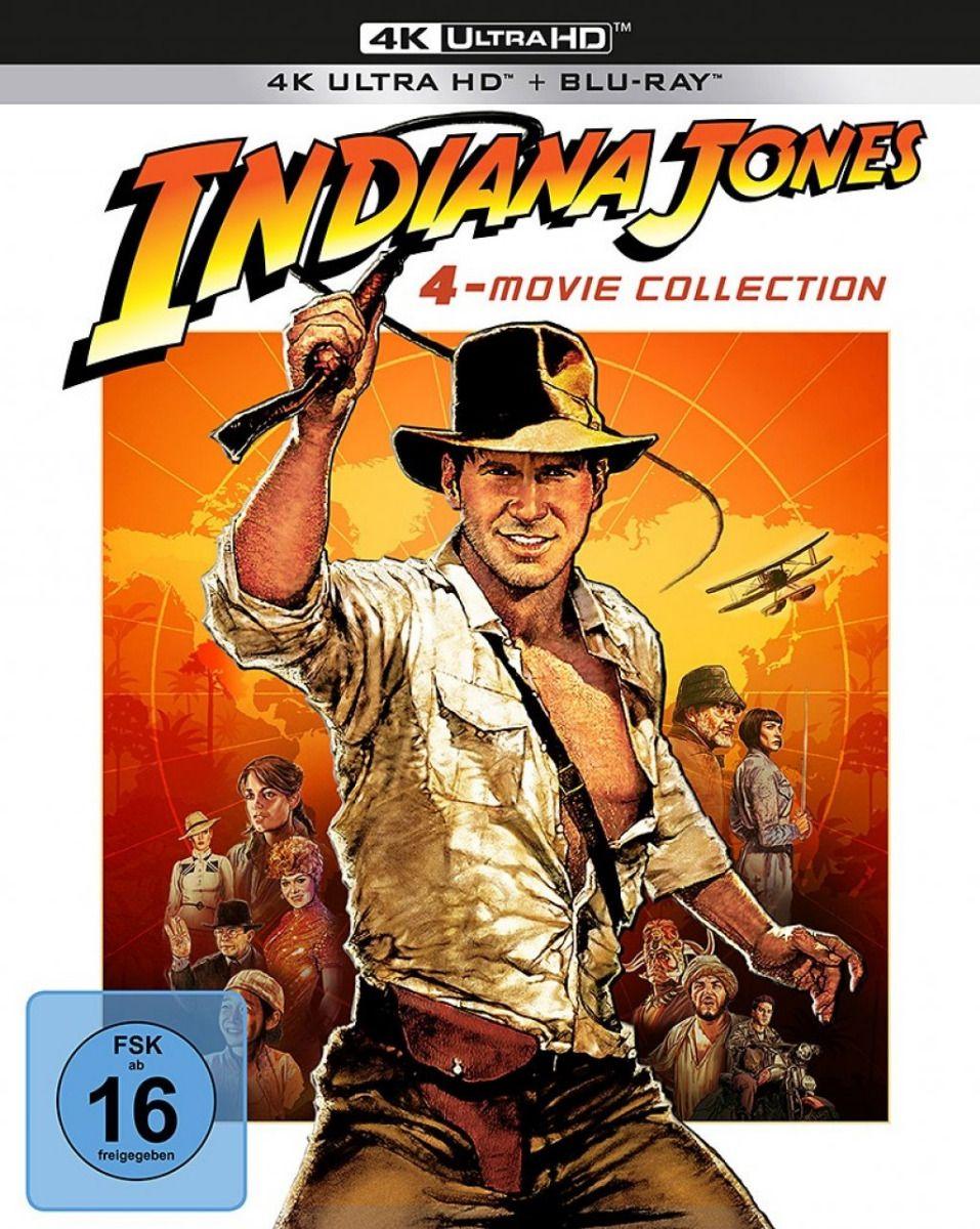 Indiana Jones 1 - 4 Movie Collection (9 Discs) (UHD BLURAY + BLURAY)