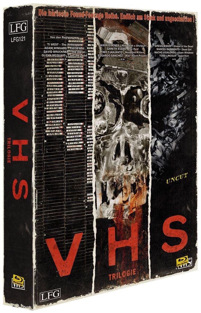 V/H/S Trilogie (Lim. VHS-Design Edition) (3 Discs) (BLURAY)