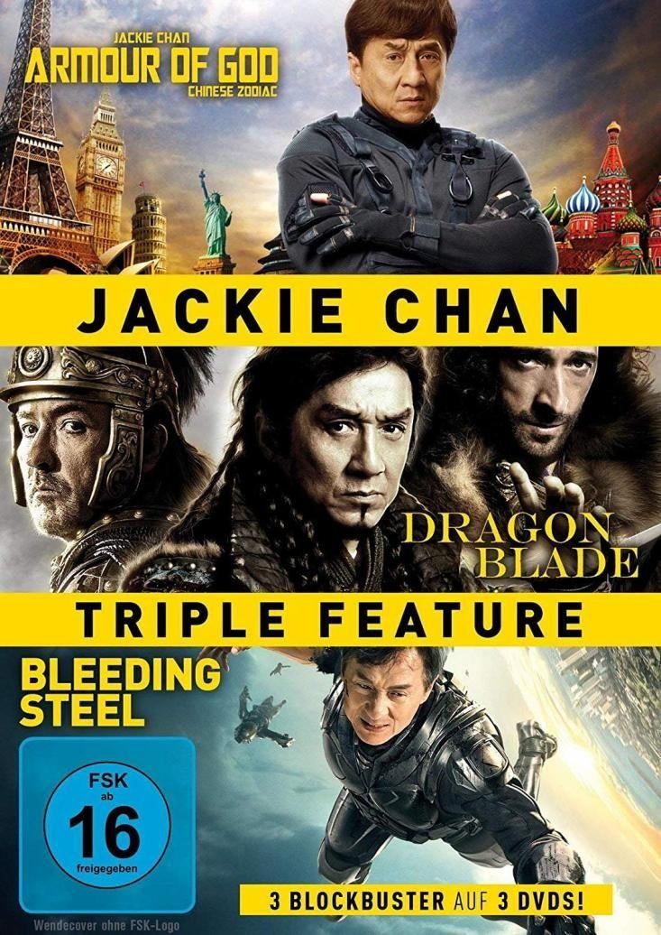 Armour of God / Dragon Blade / Bleeding Steel (Jackie Chan Triple Feature) (3 Discs)