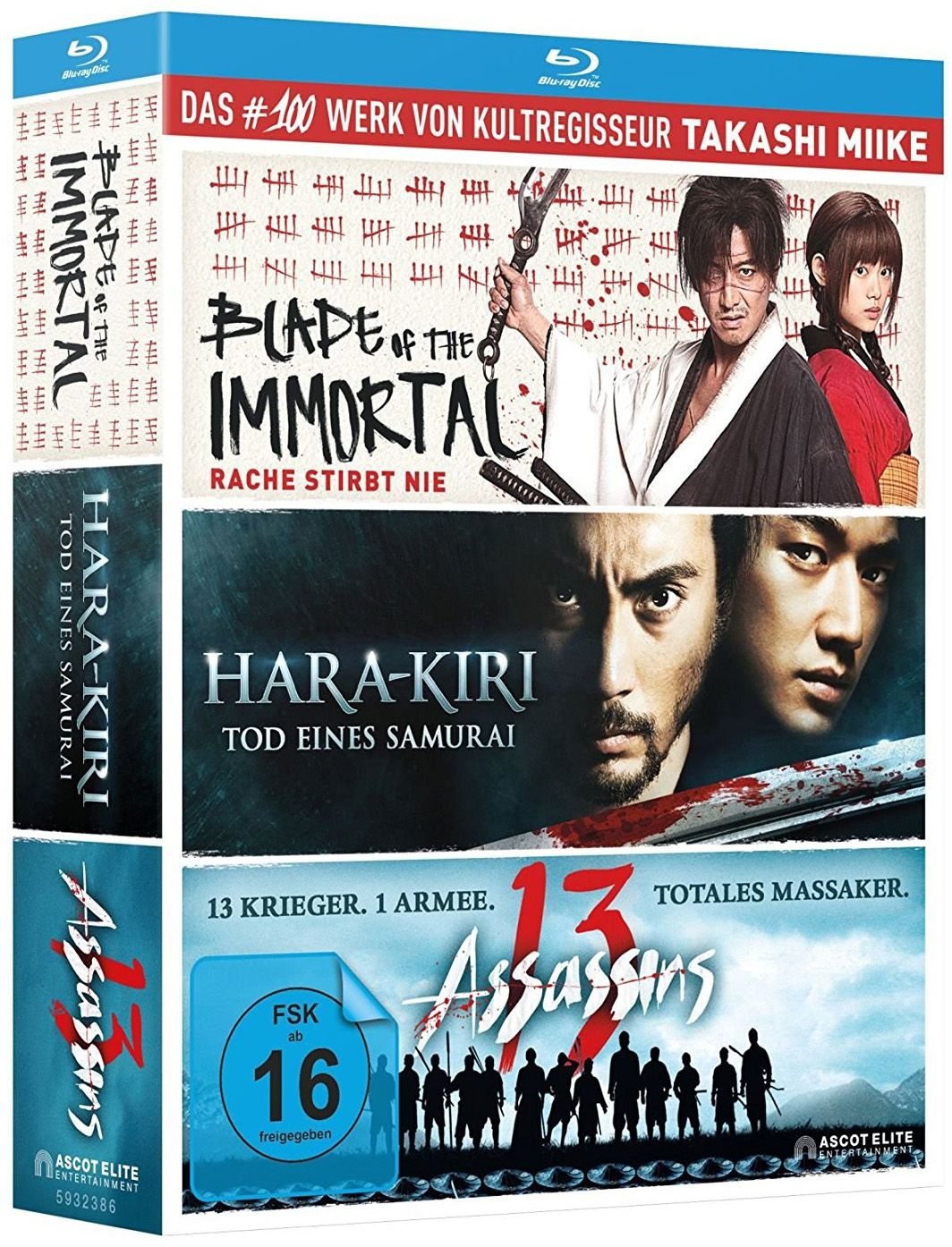 Blade of the Immortal / Hara-Kiri - Death of a Samurai / 13 Assassins (Takashi Miike Box) (3 Discs) (BLURAY)