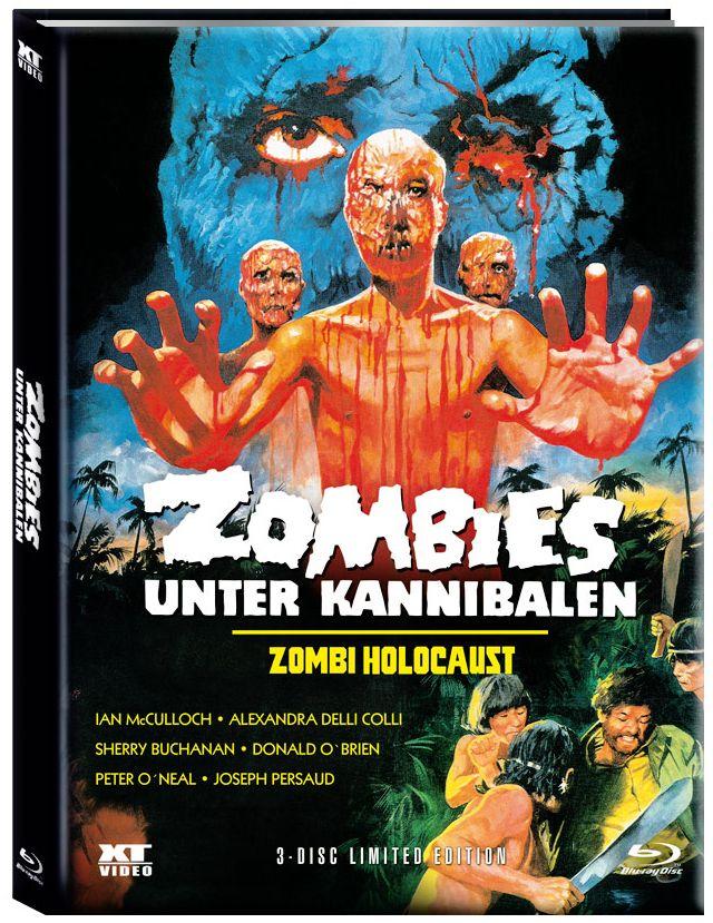 Zombies unter Kannibalen (Lim. Uncut Mediabook - Cover A) (2 DVD + BLURAY)
