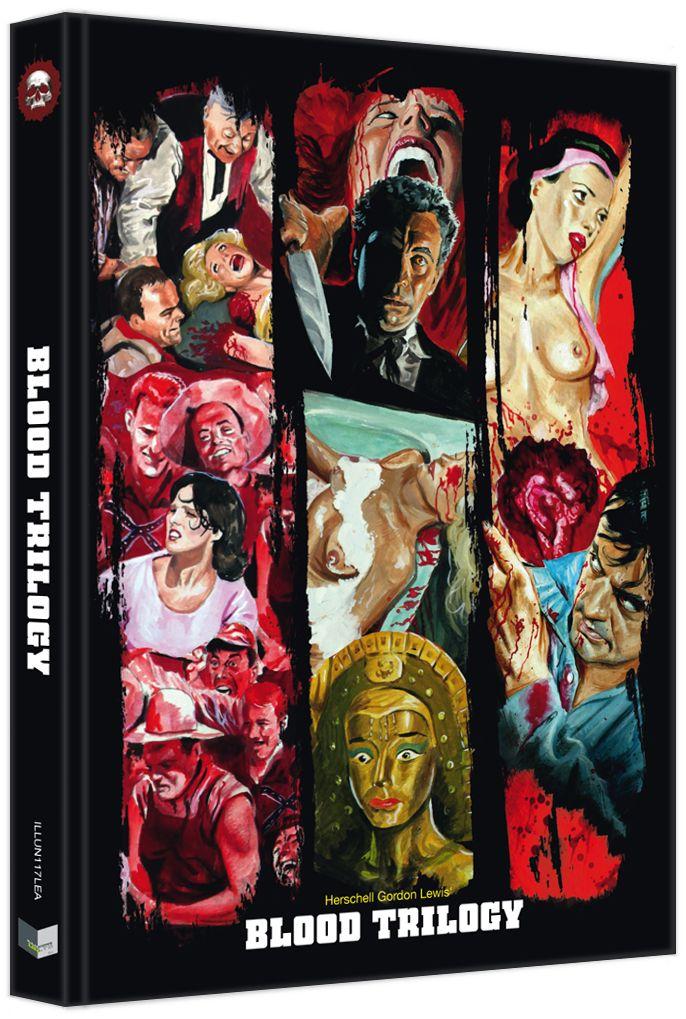 Herschell Gordon Lewis' Blood Trilogy (Lim. Uncut Mediabook - Cover A) (3 Discs) (BLURAY)