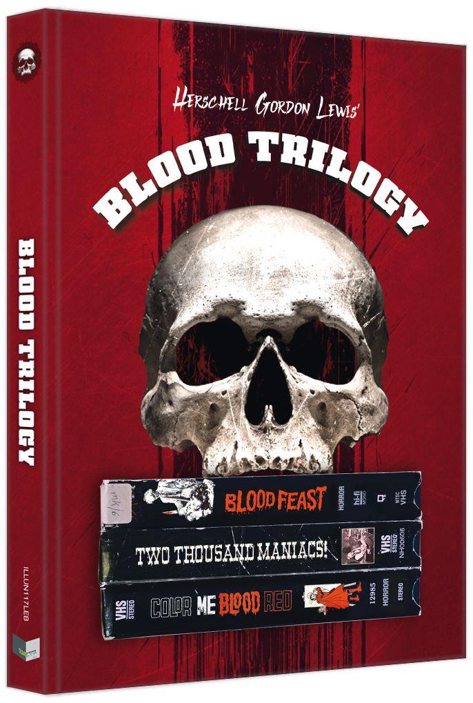 Herschell Gordon Lewis' Blood Trilogy (Lim. Uncut Mediabook - Cover B) (3 Discs) (BLURAY)