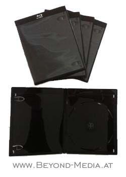 5 x Elite Blu-ray Hülle 11 mm Single mit Silberprägung SCHWARZ