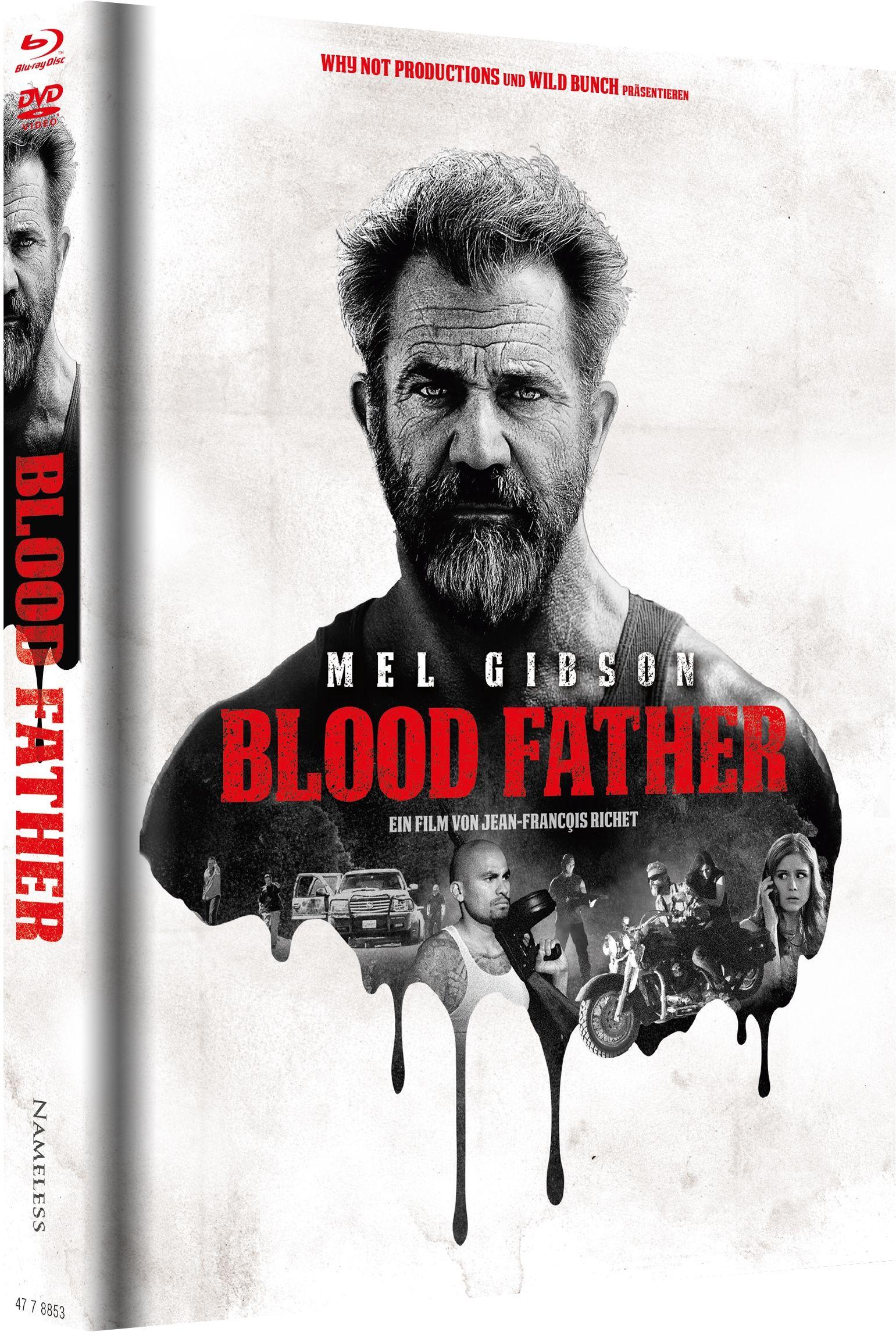 ** B-WARE ** Blood Father (Lim. Uncut Mediabook - Cover A) (DVD + BLURAY) ** B-WARE **