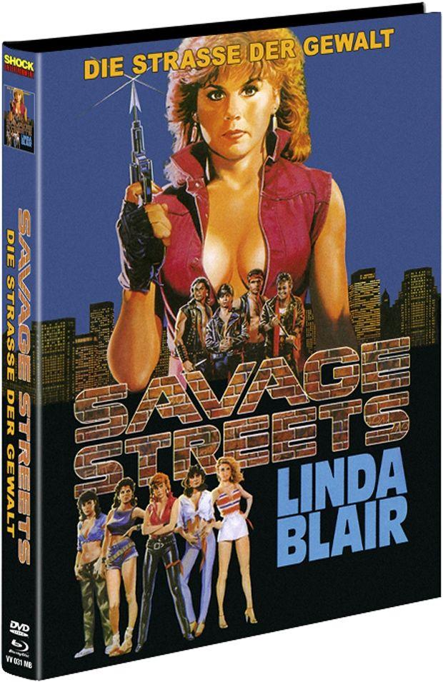 Savage Streets - Straße der Gewalt (Lim. Uncut Mediabook - Cover B) (DVD + BLURAY)