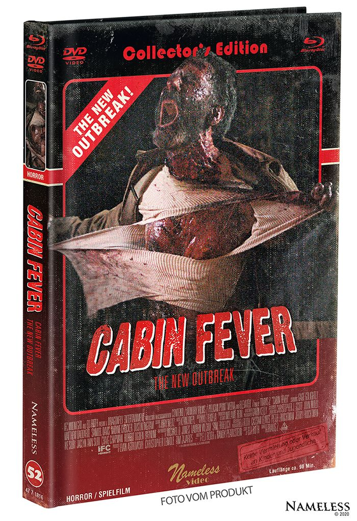 Cabin Fever - The New Outbreak (Lim. Uncut Mediabook - Cover B) (DVD + BLURAY)