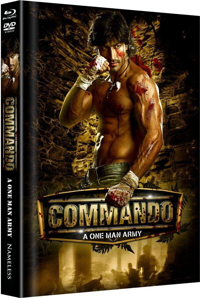 ** B-WARE ** Commando - A One Man Army (Lim. Uncut Mediabook - Cover A) (DVD + BLURAY) ** B-WARE **