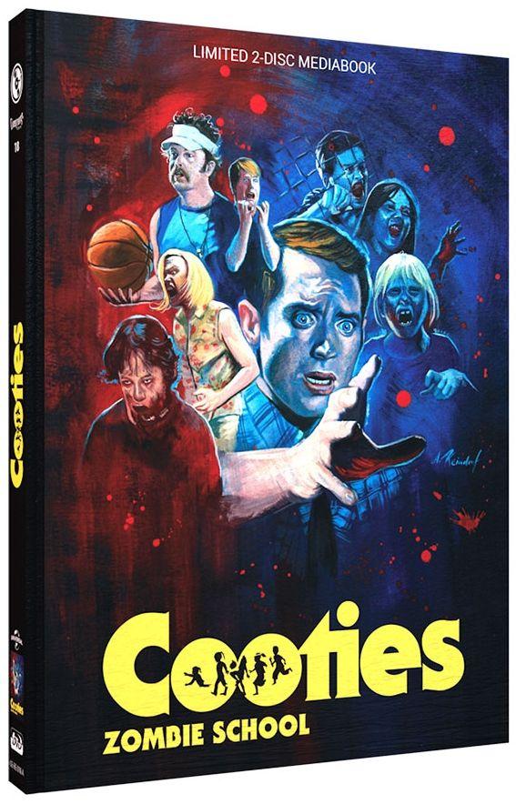 Cooties - Zombie School (Lim. Uncut Mediabook - Cover A) (DVD + BLURAY)