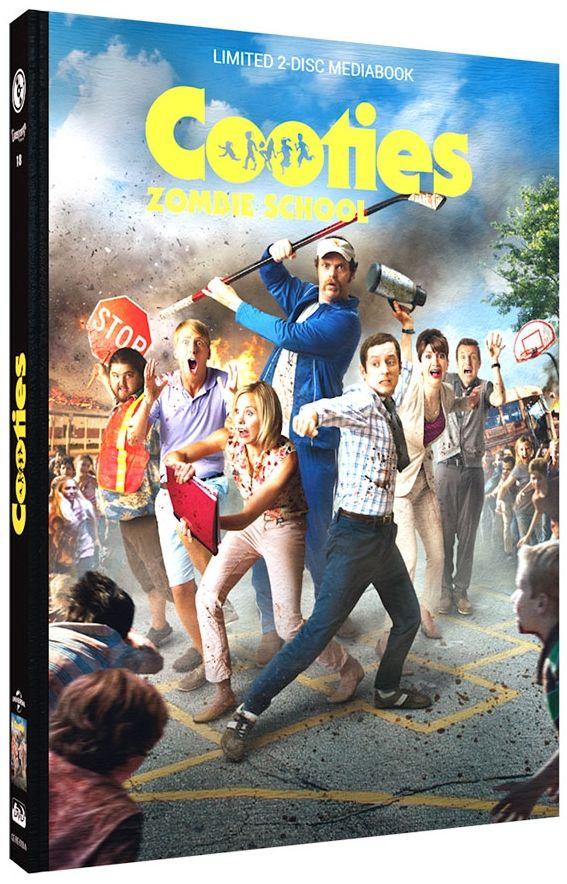 Cooties - Zombie School (Lim. Uncut Mediabook - Cover B) (DVD + BLURAY)