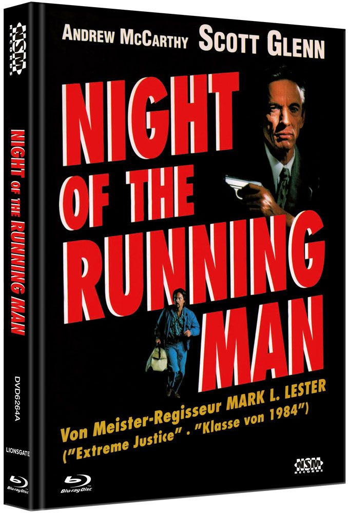Night of the Running Man (Lim. Uncut Mediabook - Cover A) (DVD + BLURAY)