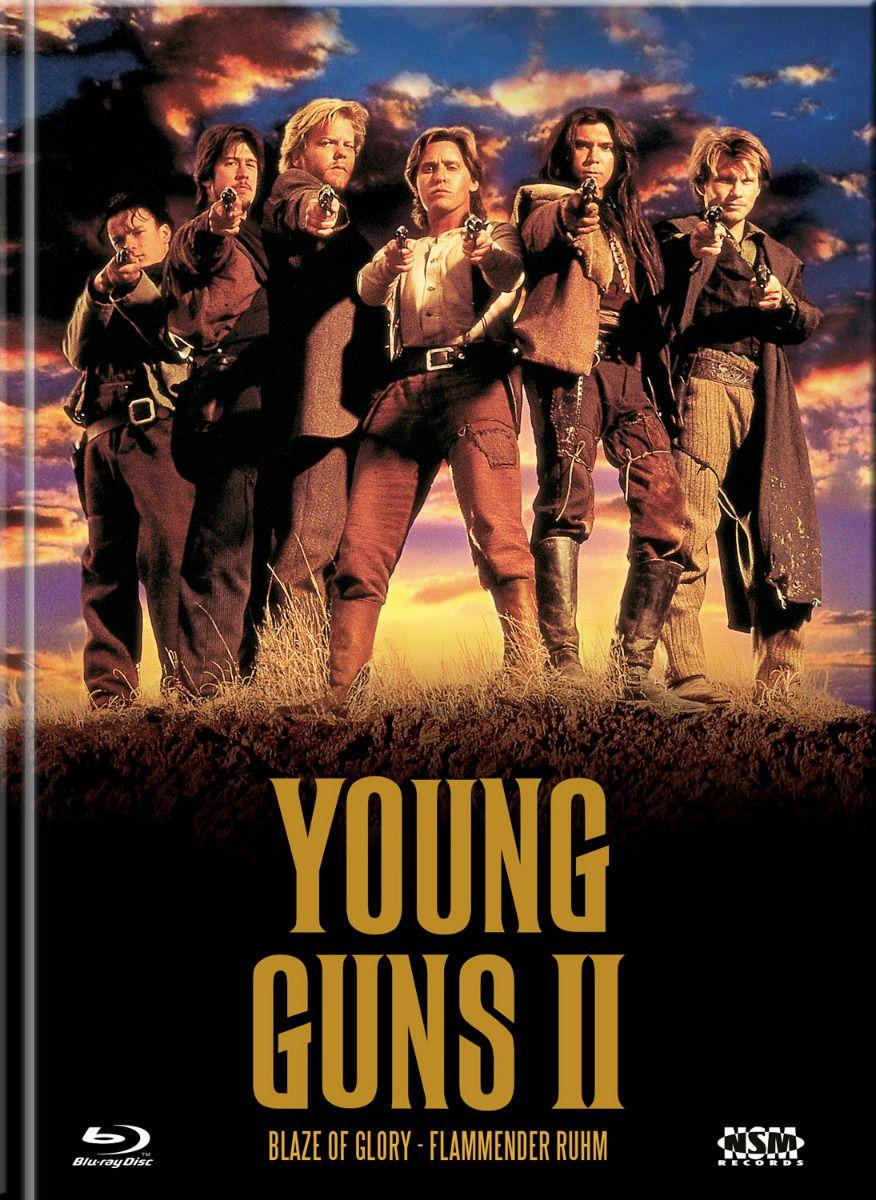 Young Guns 2 - Flammender Ruhm (Lim. Uncut Mediabook - Cover A) (DVD + BLURAY)