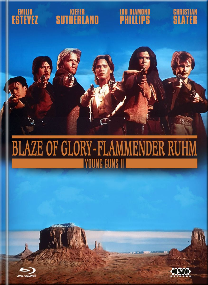 Young Guns 2 - Flammender Ruhm (Lim. Uncut Mediabook - Cover B) (DVD + BLURAY)