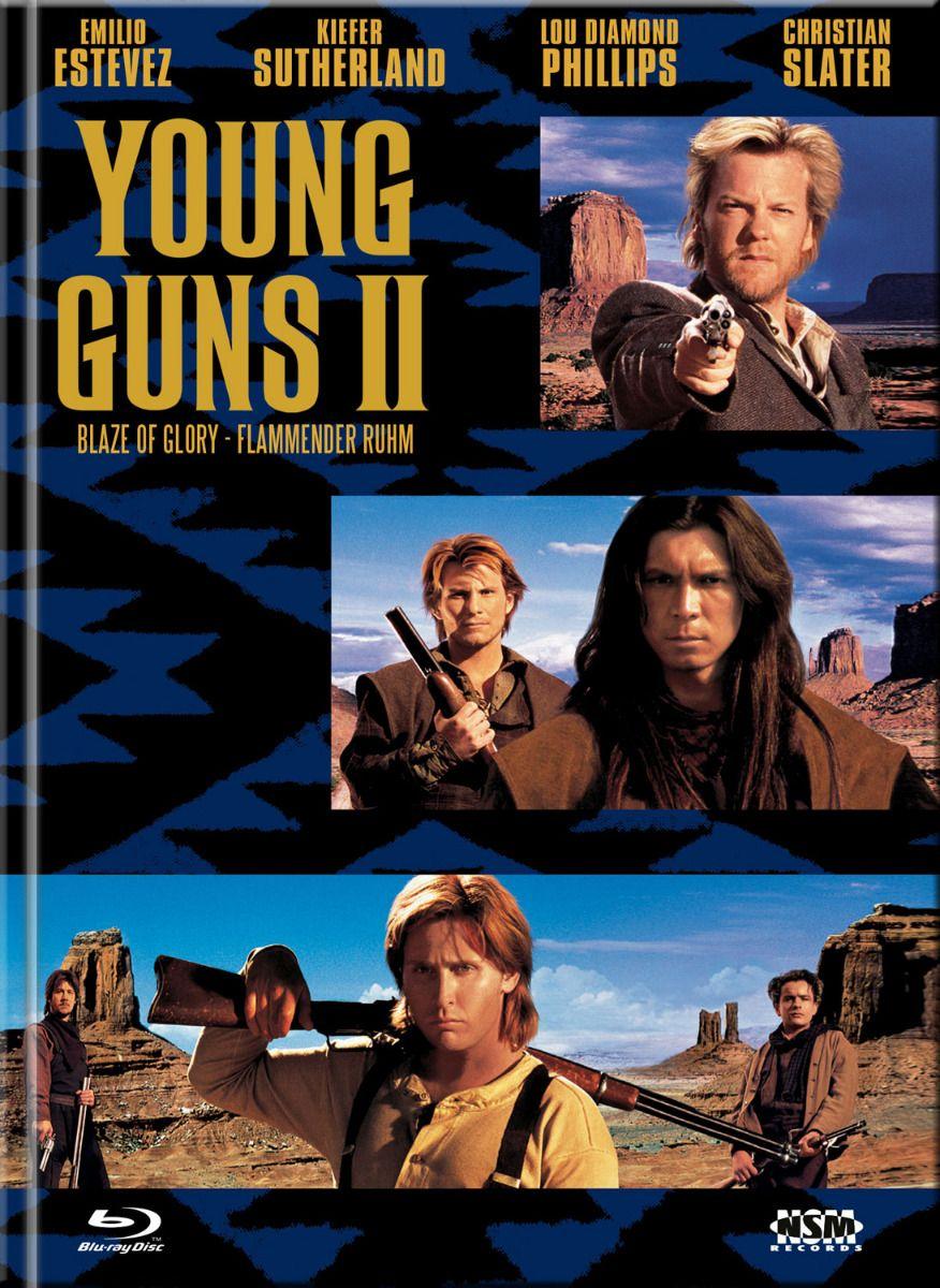 Young Guns 2 - Flammender Ruhm (Lim. Uncut Mediabook - Cover C) (DVD + BLURAY)
