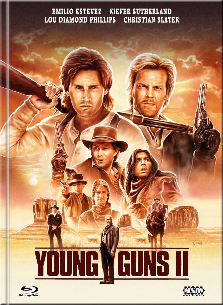 Young Guns 2 - Flammender Ruhm (Lim. Uncut Mediabook - Cover D) (DVD + BLURAY)