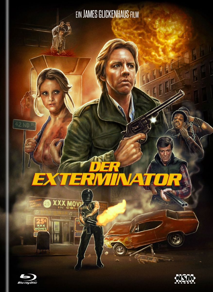 Exterminator, Der (Lim. Uncut Remastered Mediabook - Cover B) (DVD + BLURAY)