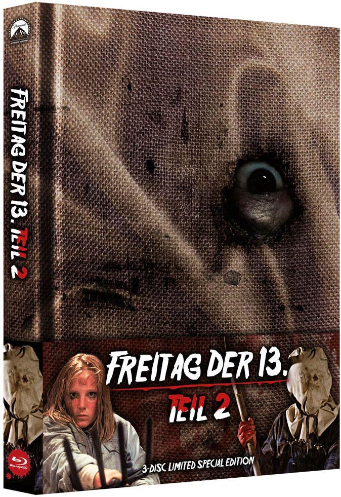 Freitag der 13. Teil 2 (Lim. Uncut Mediabook) (2 DVD + BLURAY)