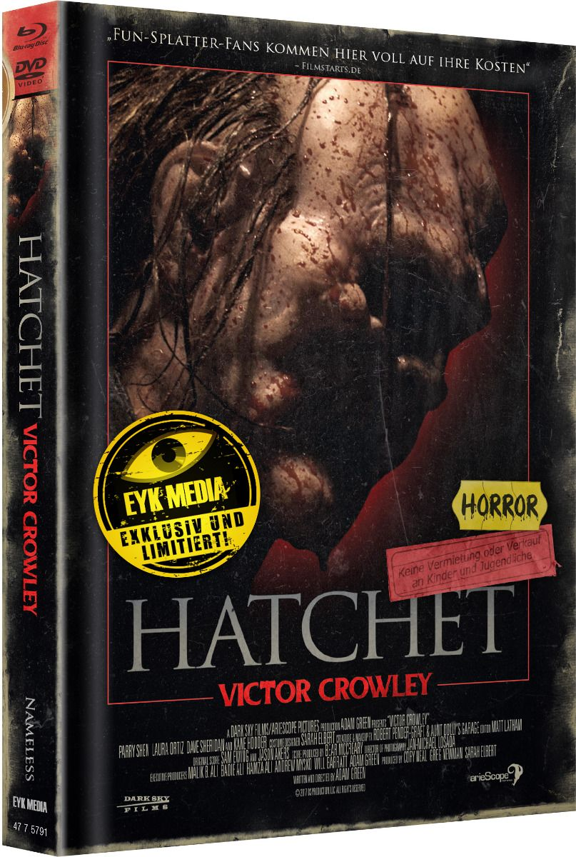 Hatchet - Victor Crowley (Lim. Uncut Mediabook - Cover C) (DVD + BLURAY)