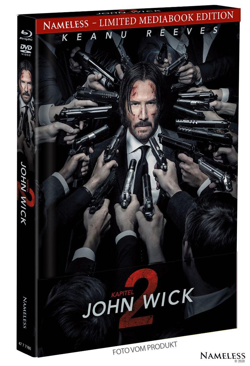 John Wick: Kapitel 2 (Lim. Uncut Mediabook - Cover A) (DVD + BLURAY)