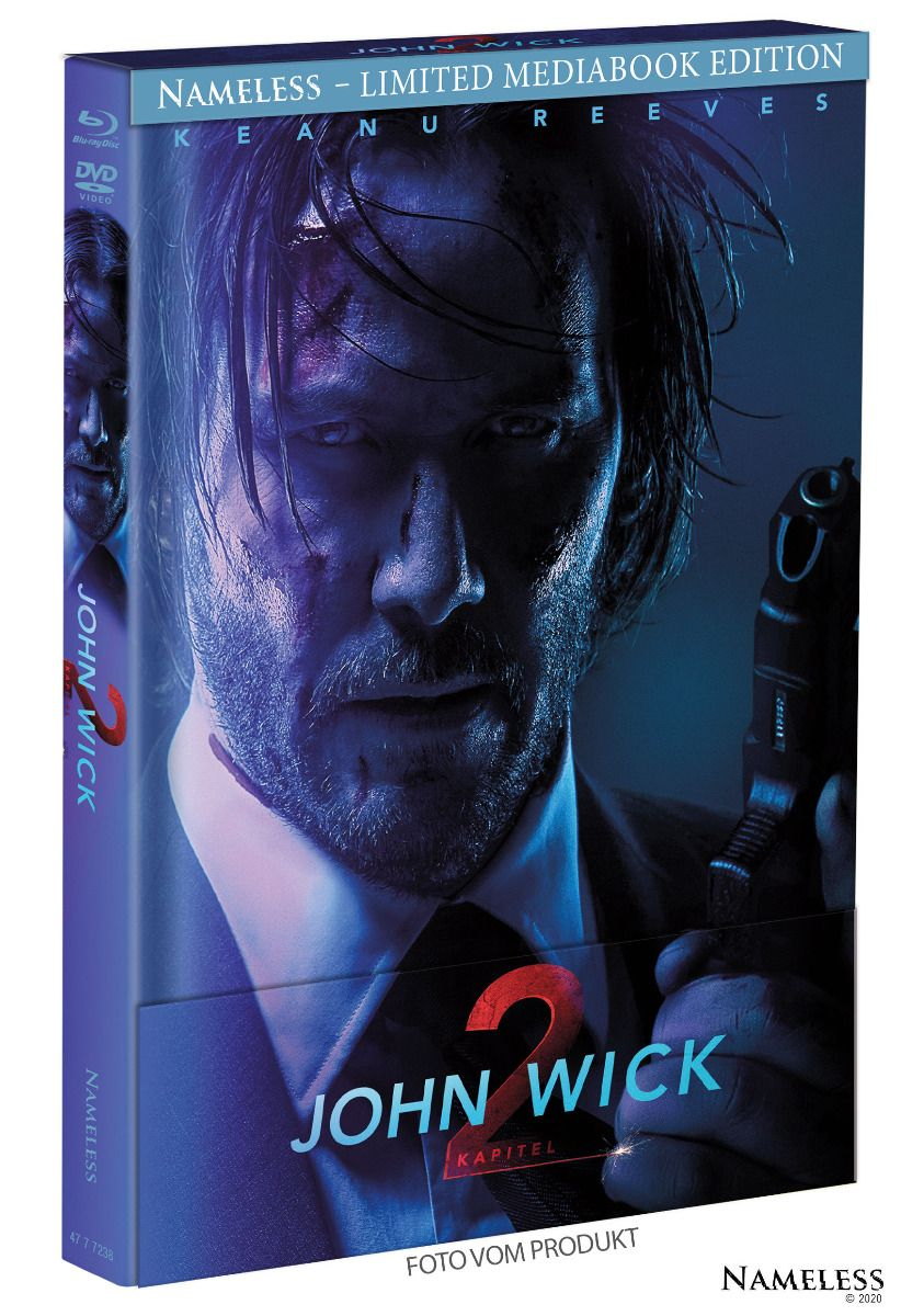 John Wick: Kapitel 2 (Lim. Uncut Mediabook - Cover B) (DVD + BLURAY)
